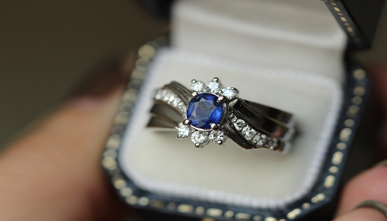 non-diamond engagement ring