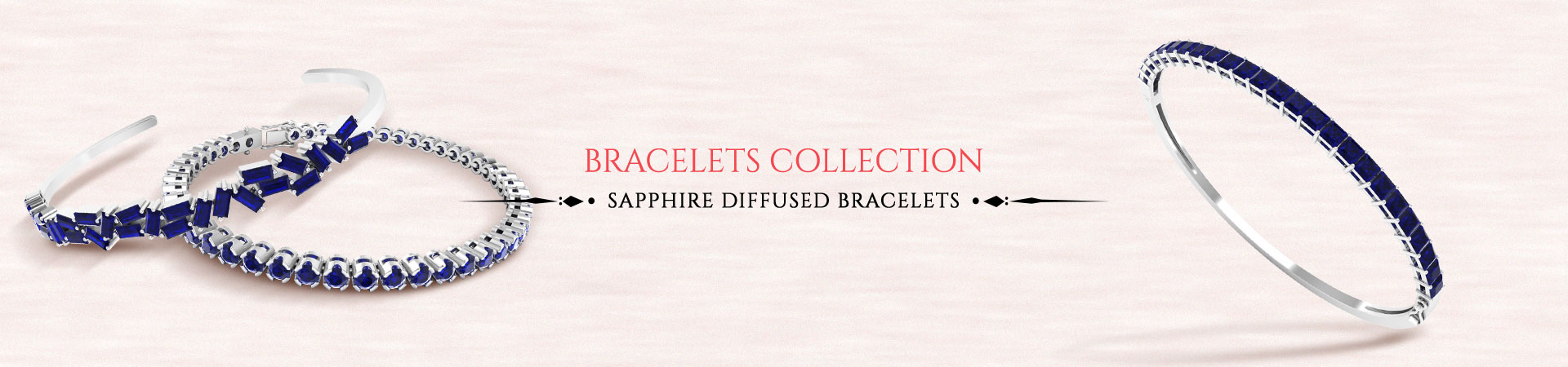 Sapphire Diffused Bracelet