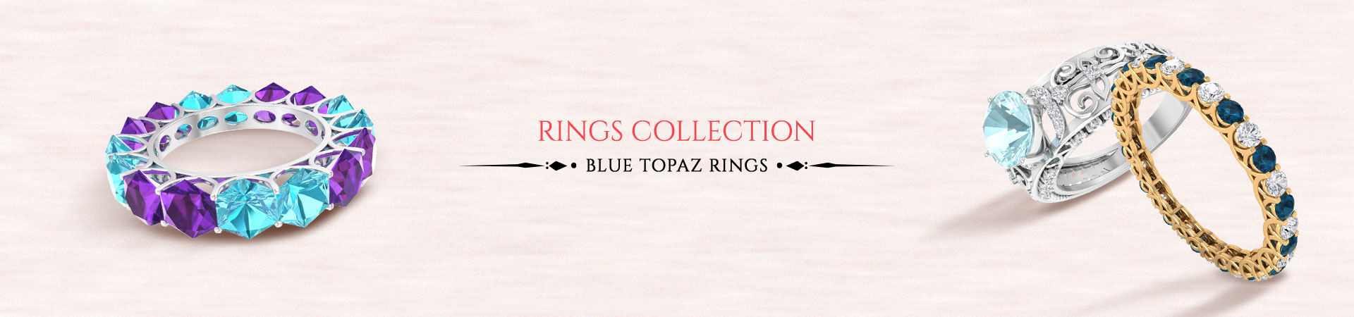Blue Topaz Rings