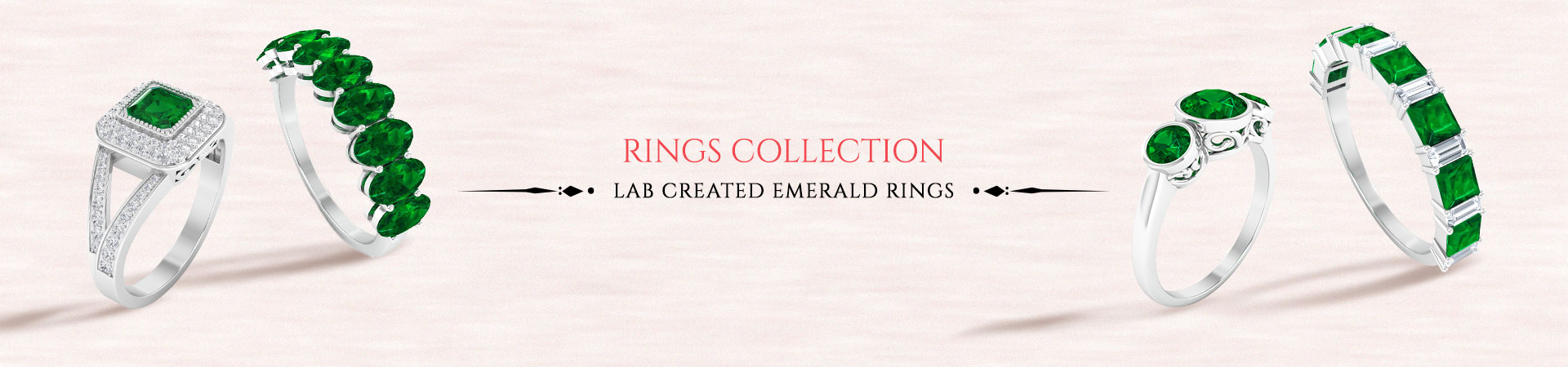 Lab Created Emerald Rings