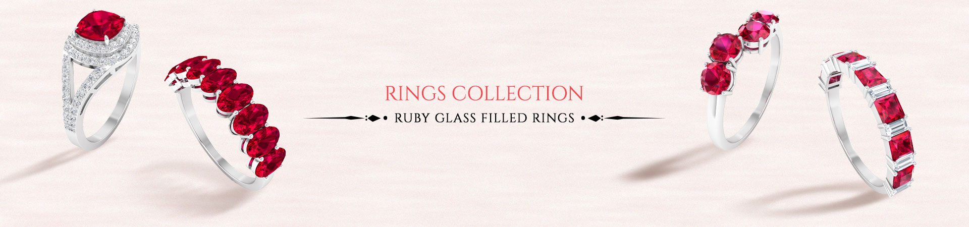 Glass Filled Ruby Rings