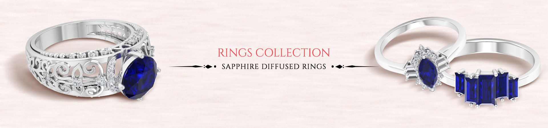 Sapphire Diffused Rings