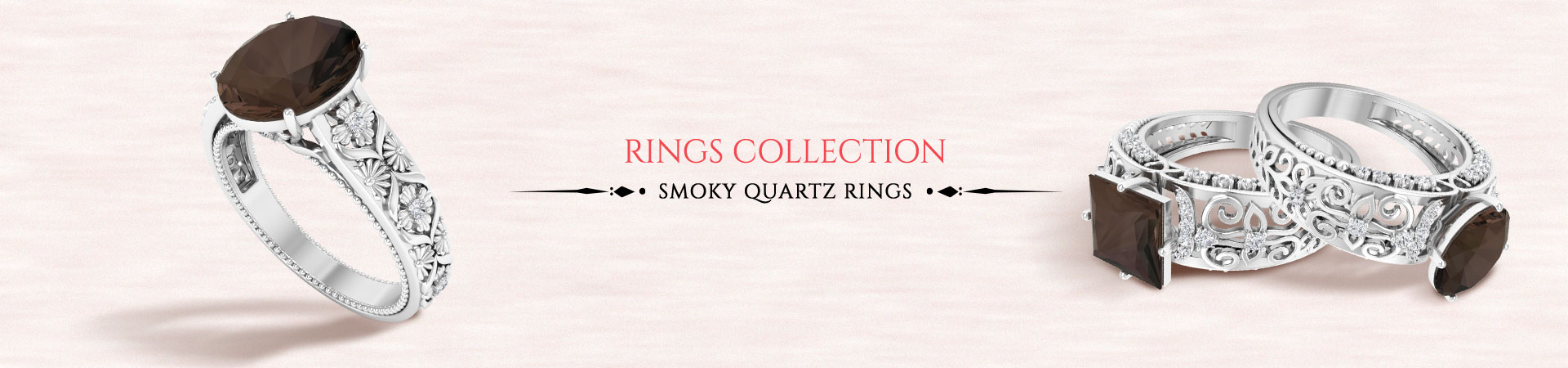 Smoky Quartz Rings