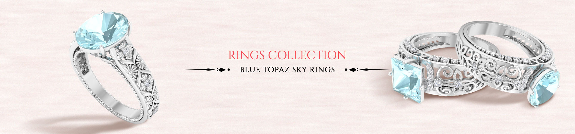 Blue Topaz Sky Rings
