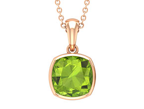 Lab Created Peridot Necklace