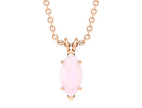 Lab Created Pink Onyx Necklace