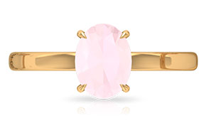 Lab Created Pink Onyx Rings