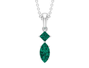 Lab Created Russian Emerald Necklace